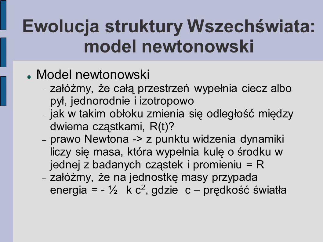 Ewolucja struktury Wszechświata: model newtonowski