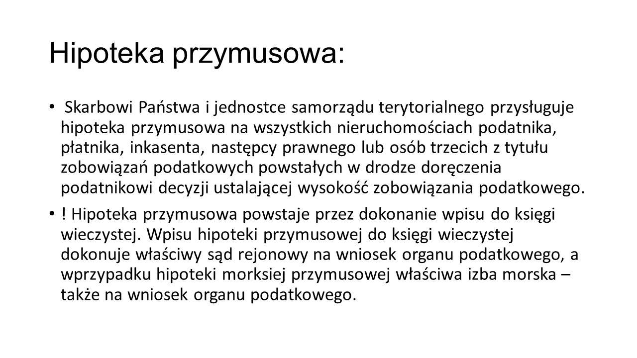 Hipoteka przymusowa: