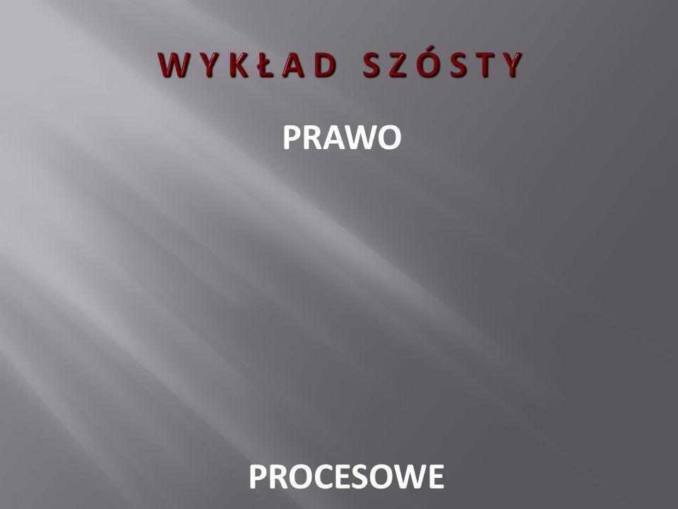 W Y K Ł A D S Z Ó S T Y PRAWO PROCESOWE