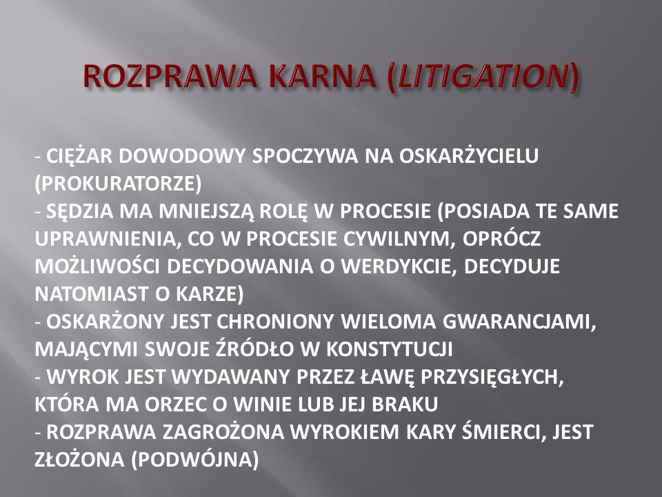 ROZPRAWA KARNA (LITIGATION)