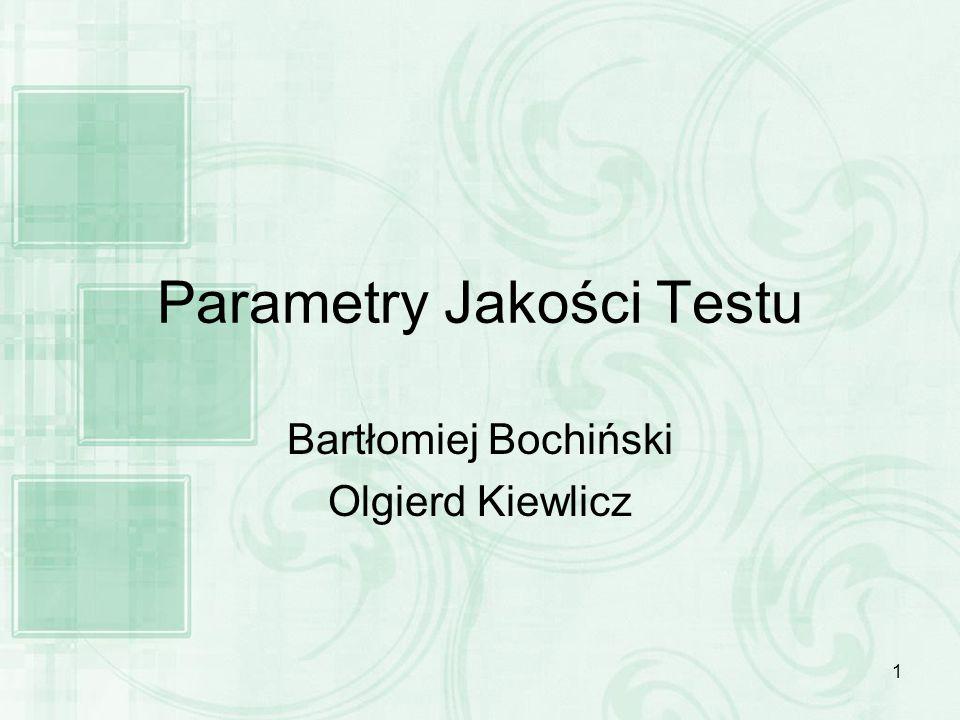 Parametry Jakości Testu