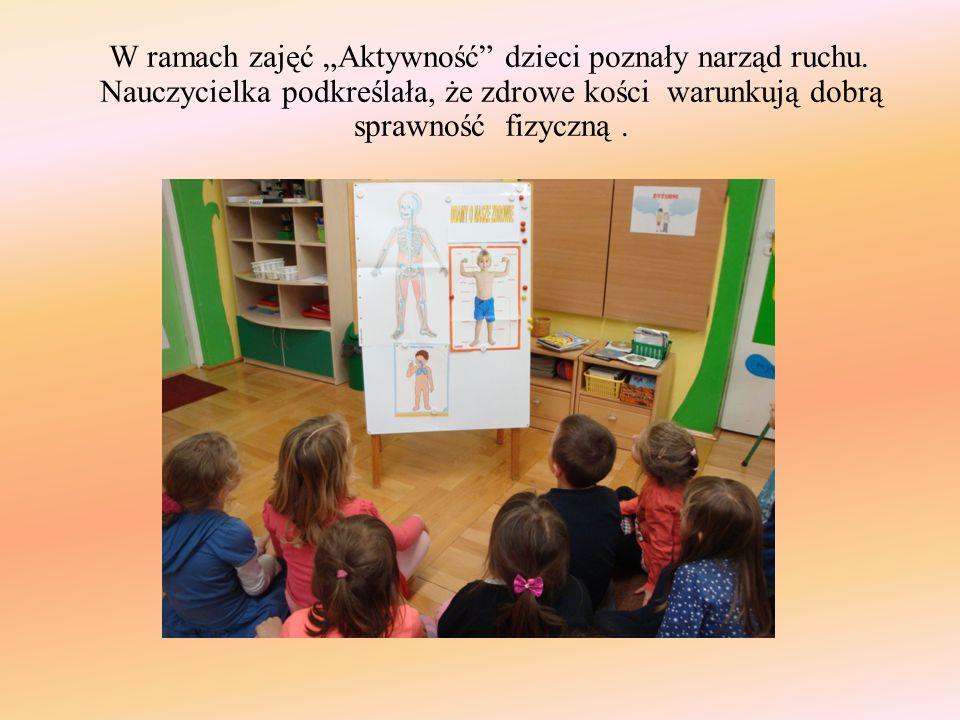"""W ramach zajęć """"Aktywność dzieci poznały narząd ruchu"""