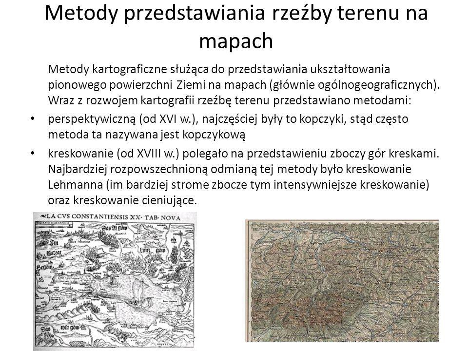 Metody przedstawiania rzeźby terenu na mapach