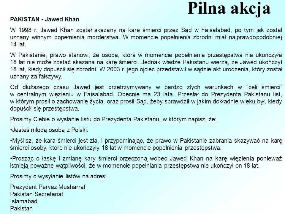 Pilna akcja PAKISTAN - Jawed Khan