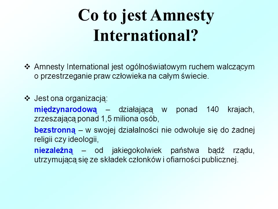Co to jest Amnesty International