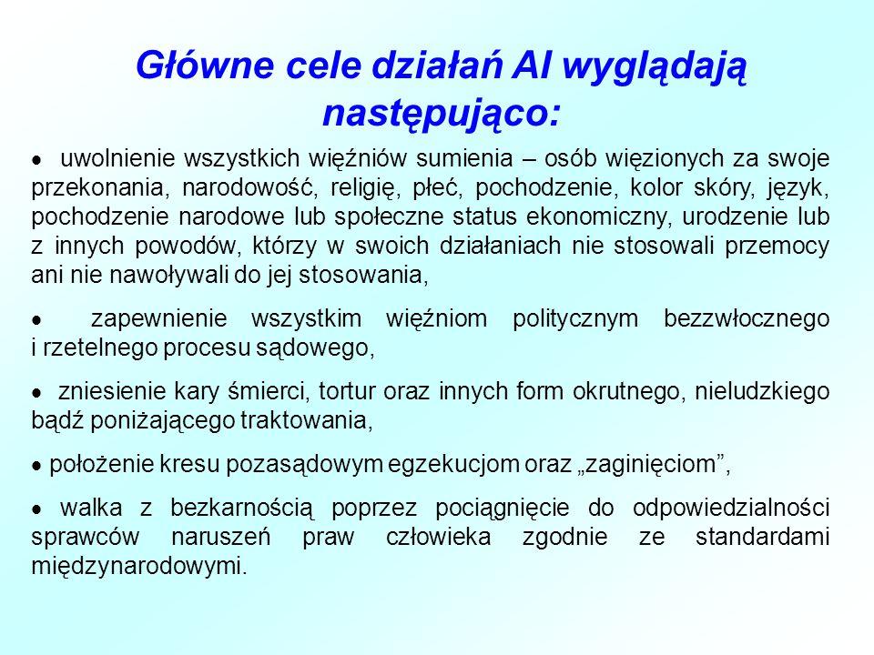 Główne cele działań AI wyglądają następująco: