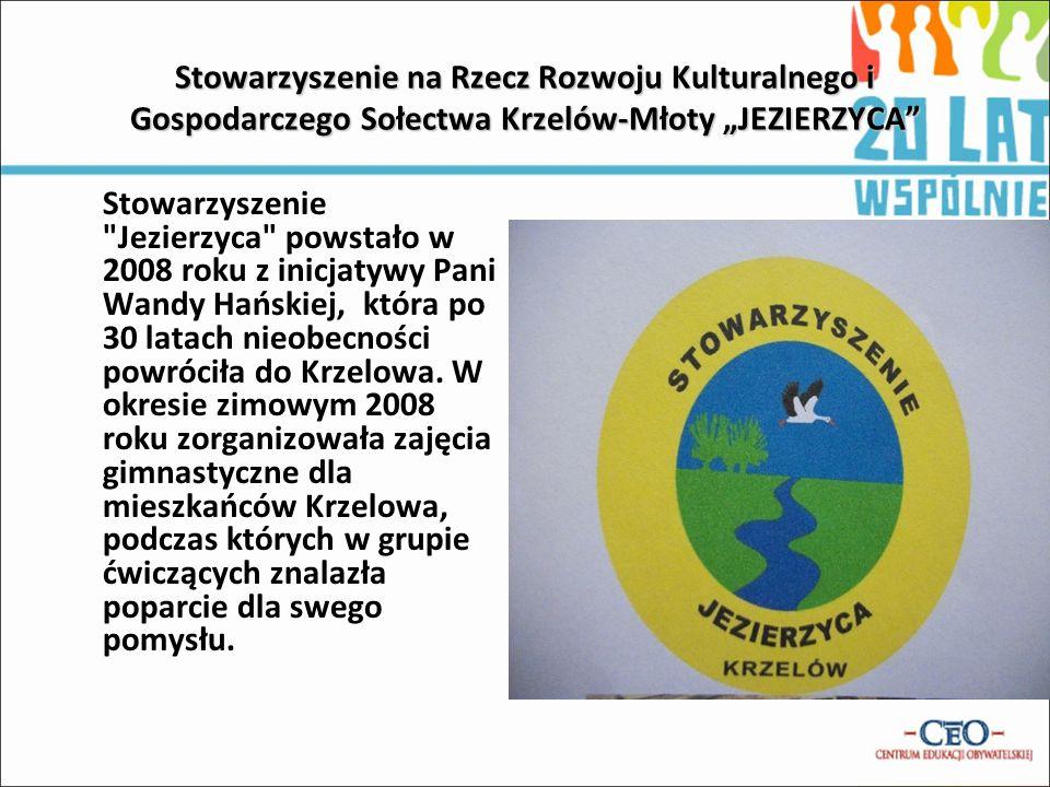 """Stowarzyszenie na Rzecz Rozwoju Kulturalnego i Gospodarczego Sołectwa Krzelów-Młoty """"JEZIERZYCA"""