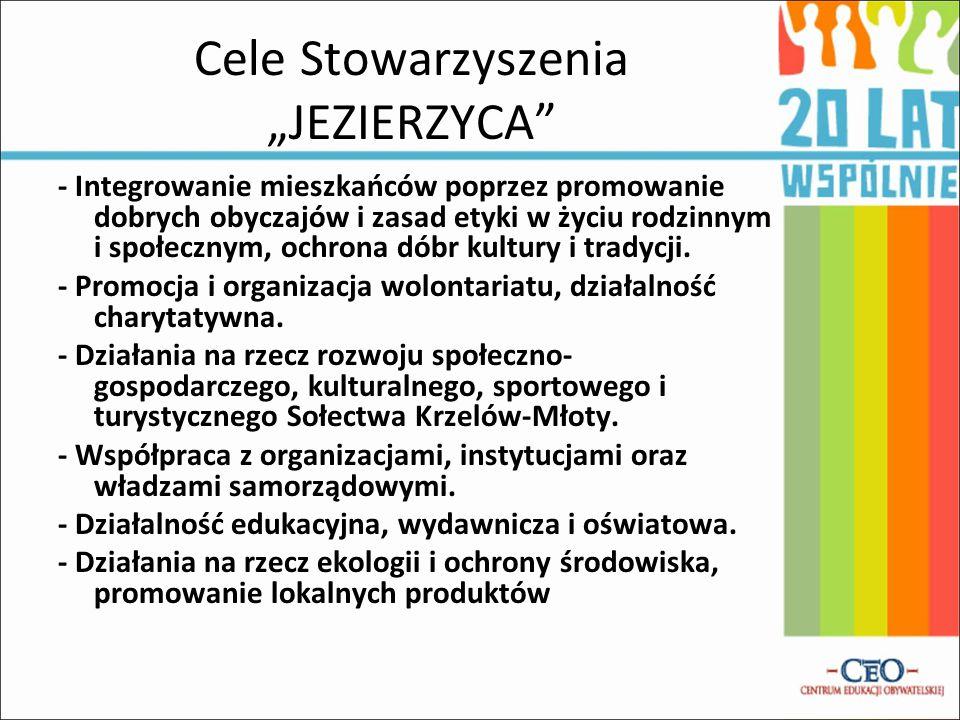 """Cele Stowarzyszenia """"JEZIERZYCA"""