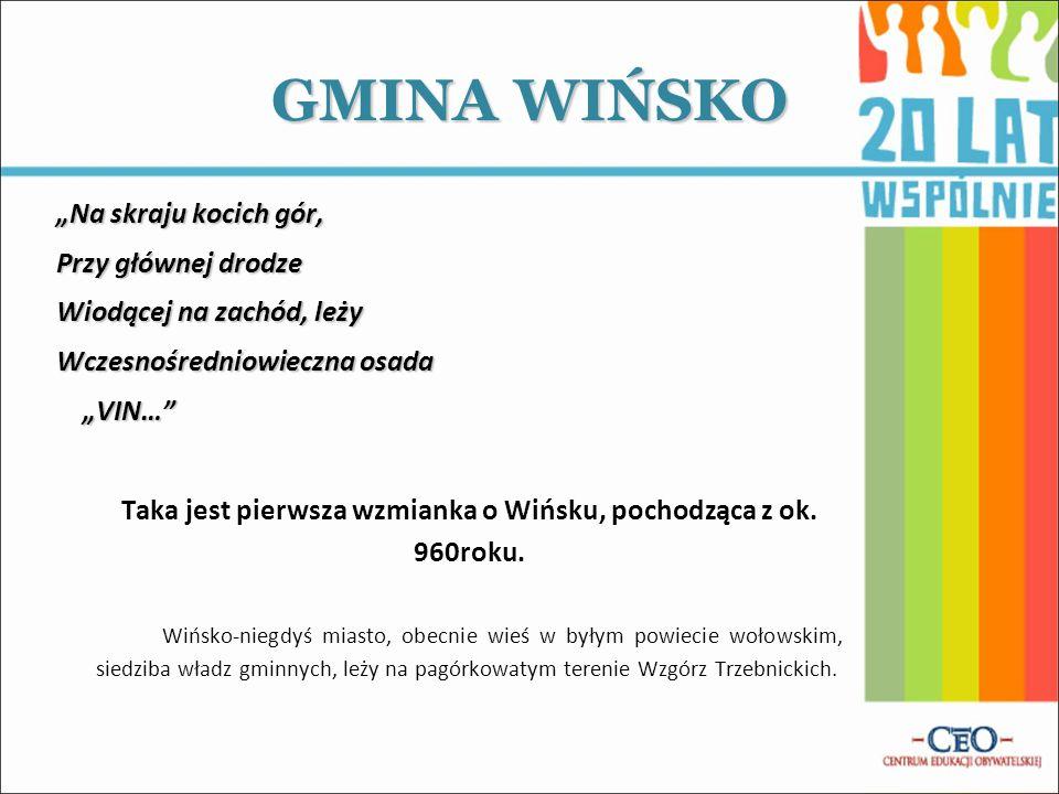 Taka jest pierwsza wzmianka o Wińsku, pochodząca z ok. 960roku.