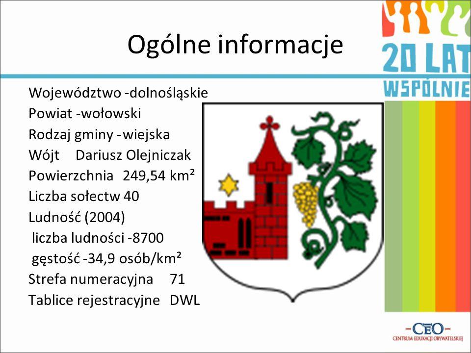 Ogólne informacje Województwo -dolnośląskie Powiat -wołowski