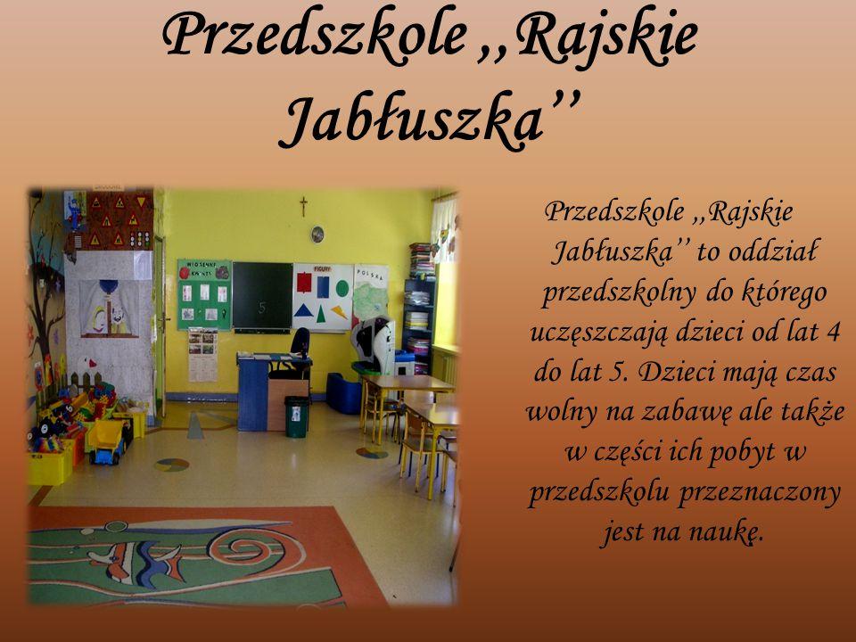 Przedszkole ,,Rajskie Jabłuszka''