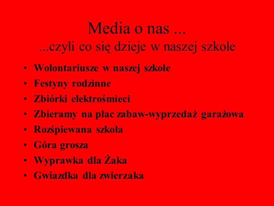 Media o nas ... ...czyli co się dzieje w naszej szkole