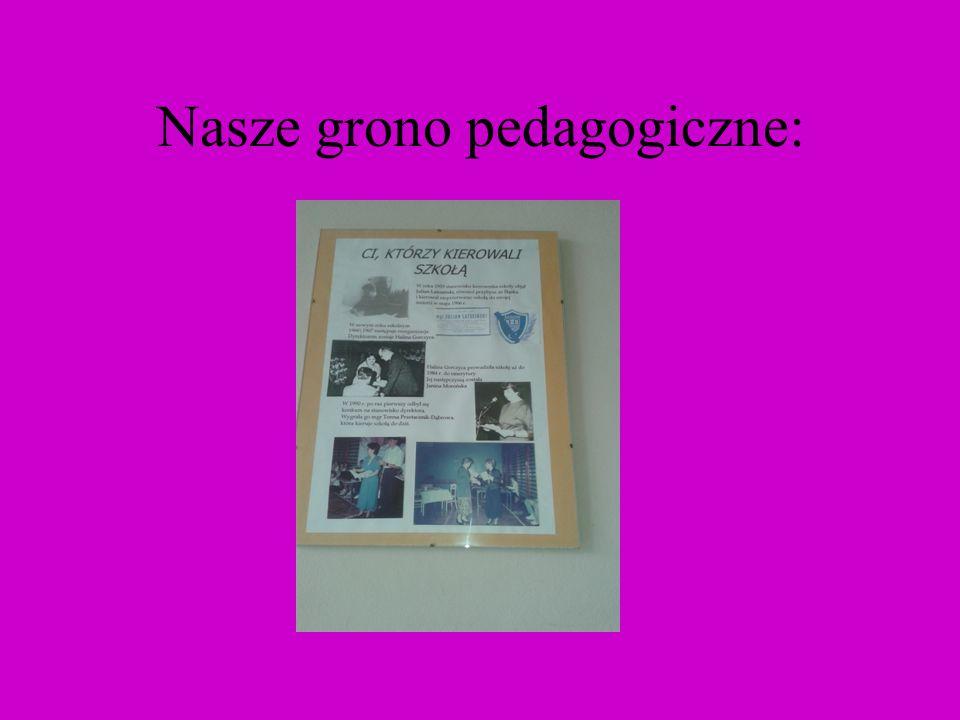 Nasze grono pedagogiczne: