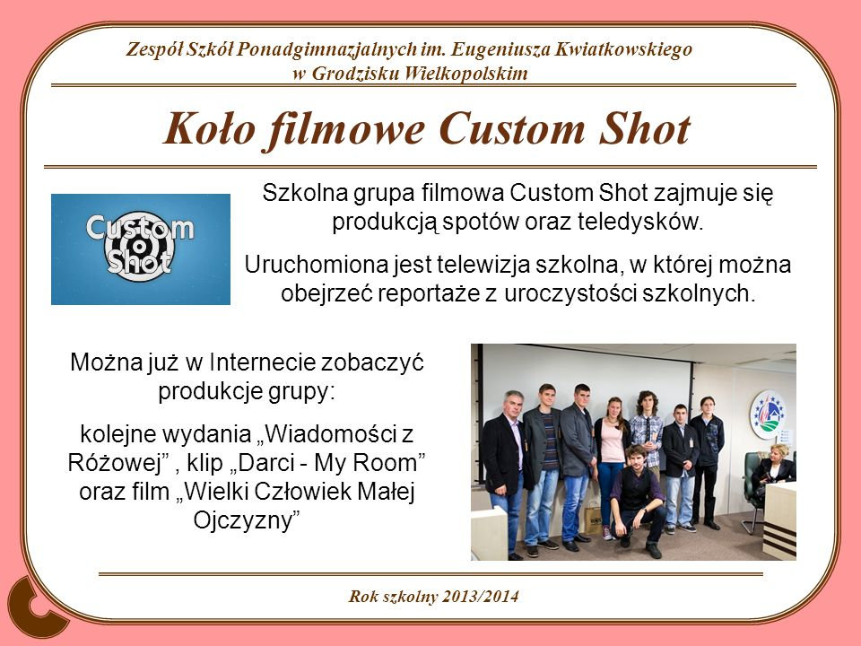 Koło filmowe Custom Shot