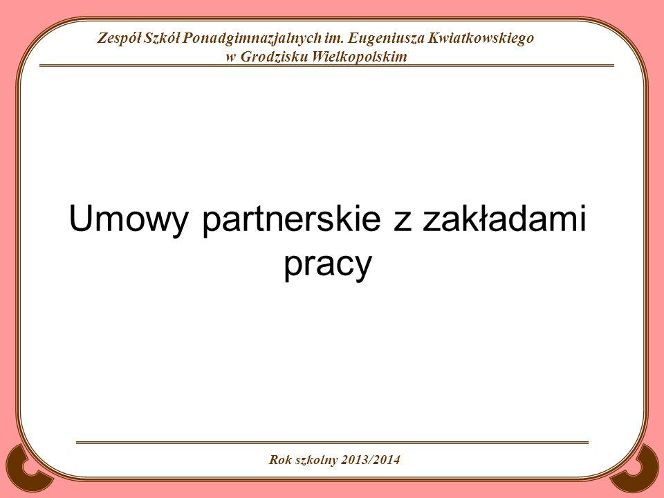 Umowy partnerskie z zakładami pracy
