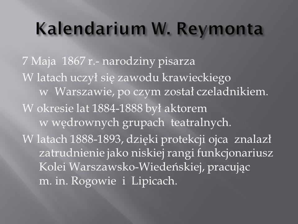 Kalendarium W. Reymonta