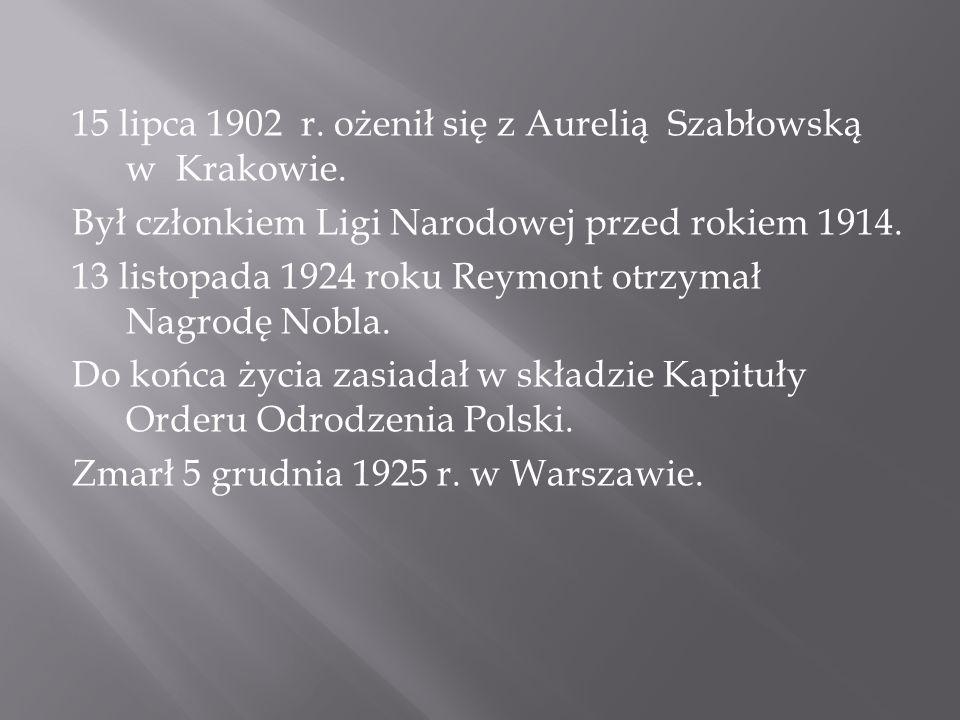 15 lipca 1902 r. ożenił się z Aurelią Szabłowską w Krakowie