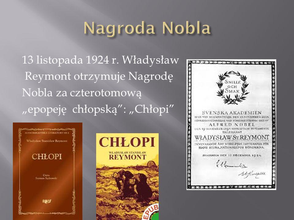 Nagroda Nobla 13 listopada 1924 r.