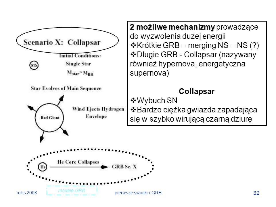 2 możliwe mechanizmy prowadzące do wyzwolenia dużej energii