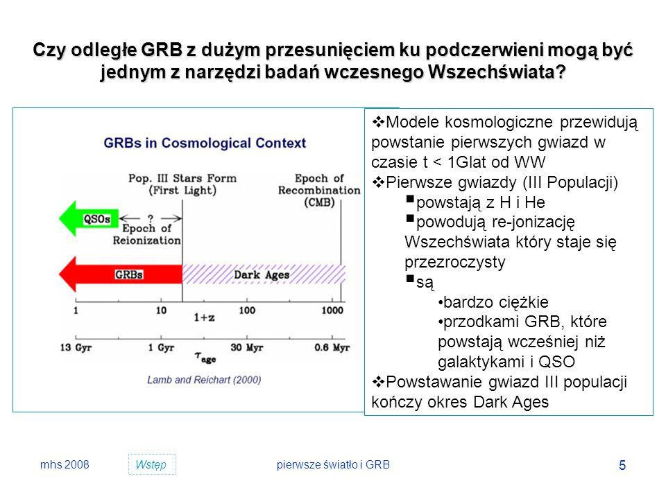 Czy odległe GRB z dużym przesunięciem ku podczerwieni mogą być jednym z narzędzi badań wczesnego Wszechświata
