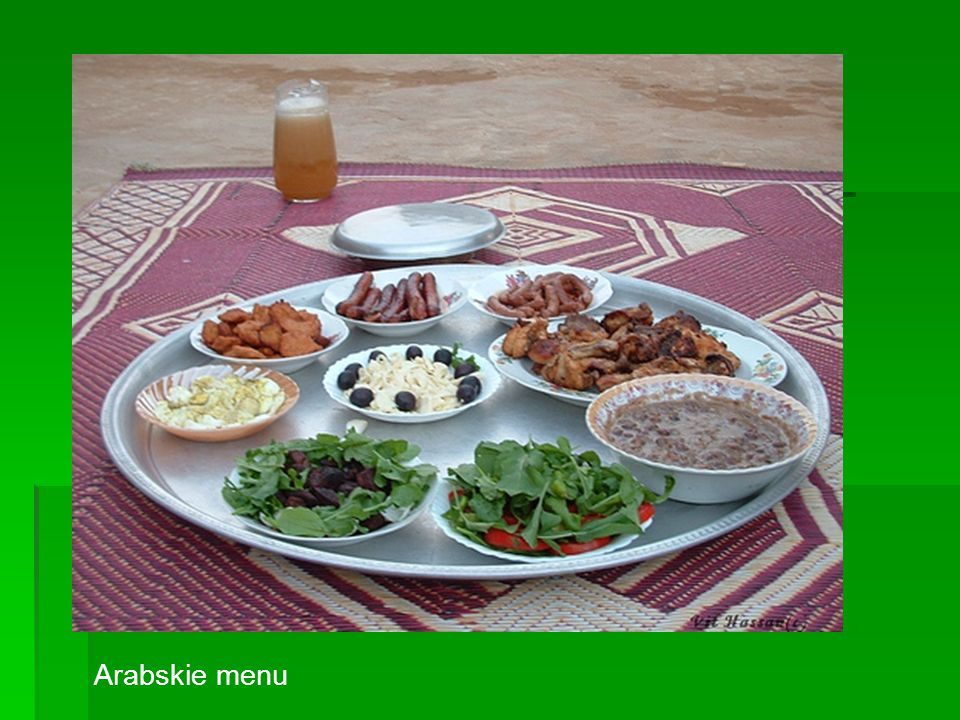 Arabskie menu
