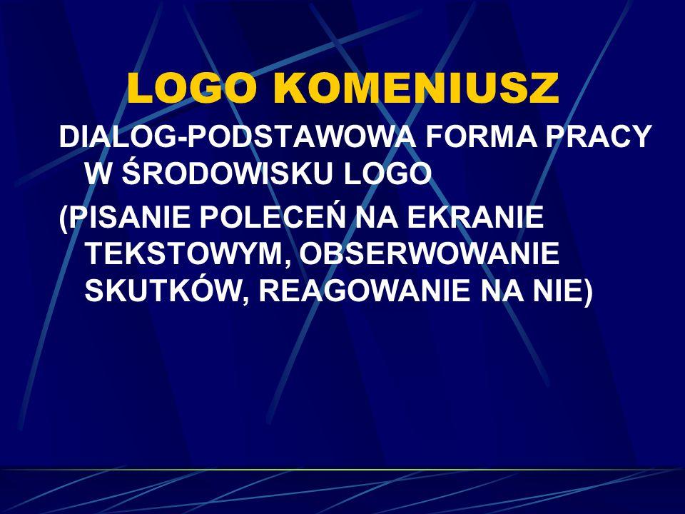 LOGO KOMENIUSZ DIALOG-PODSTAWOWA FORMA PRACY W ŚRODOWISKU LOGO
