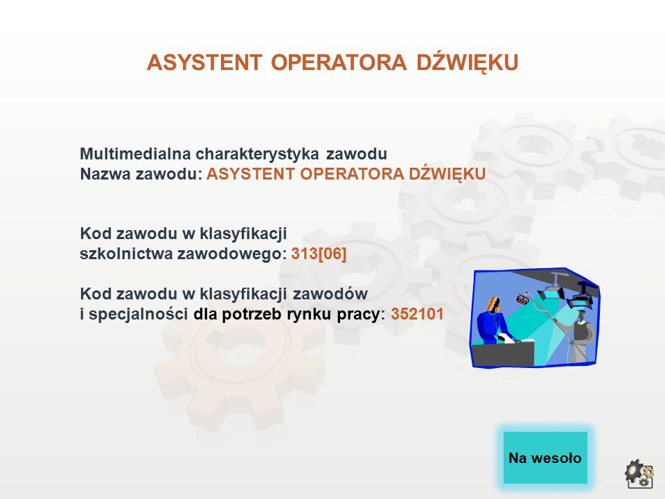 ASYSTENT OPERATORA DŹWIĘKU