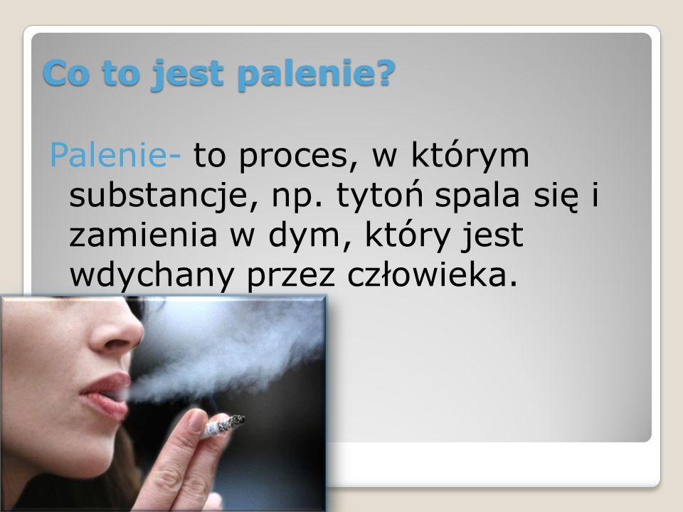 Co to jest palenie. Palenie- to proces, w którym substancje, np.