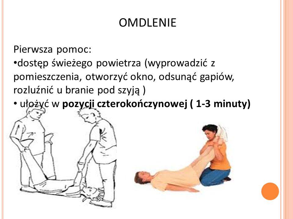 OMDLENIE Pierwsza pomoc:
