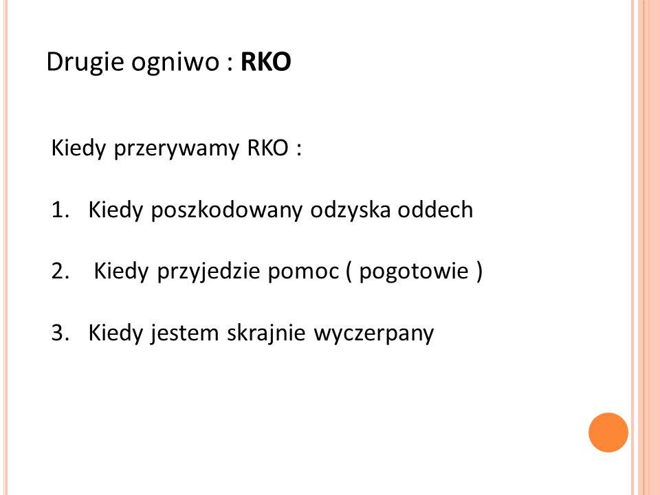 Drugie ogniwo : RKO Kiedy przerywamy RKO :