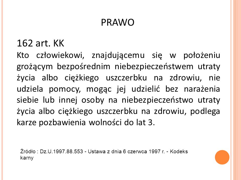 PRAWO 162 art. KK.
