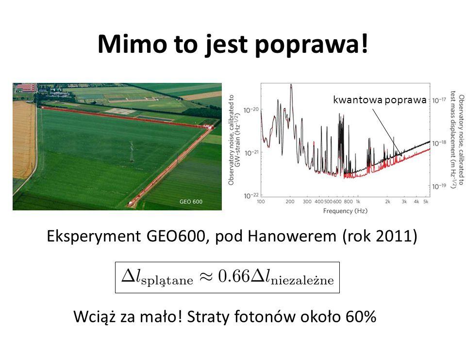 Mimo to jest poprawa! Eksperyment GEO600, pod Hanowerem (rok 2011)