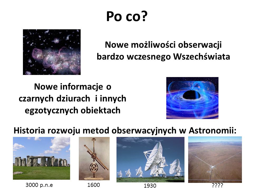 Nowe możliwości obserwacji bardzo wczesnego Wszechświata
