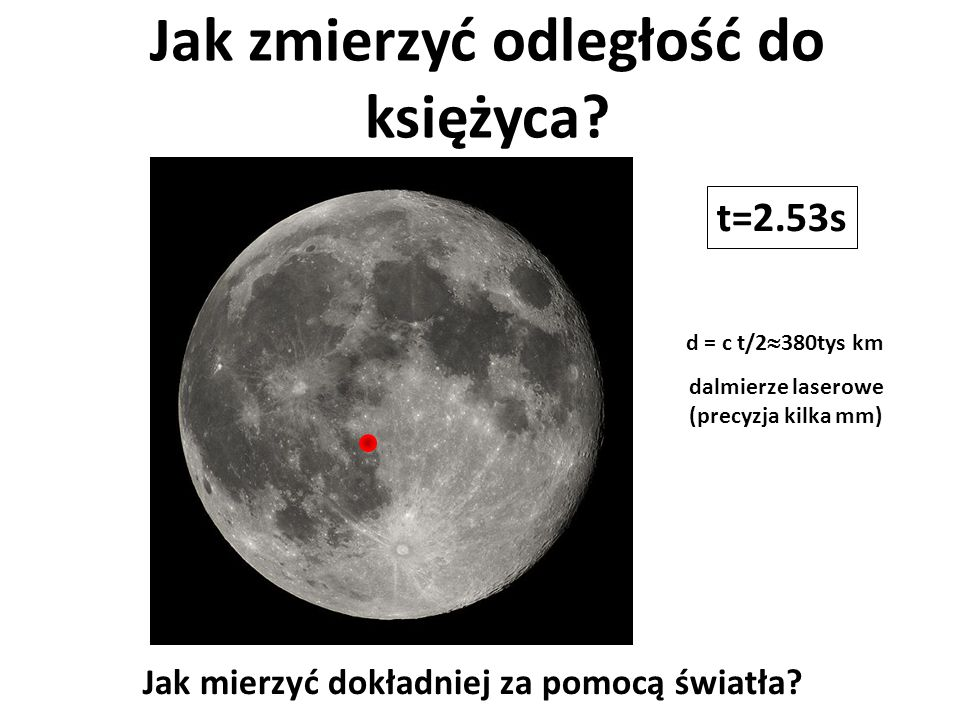 Jak zmierzyć odległość do księżyca