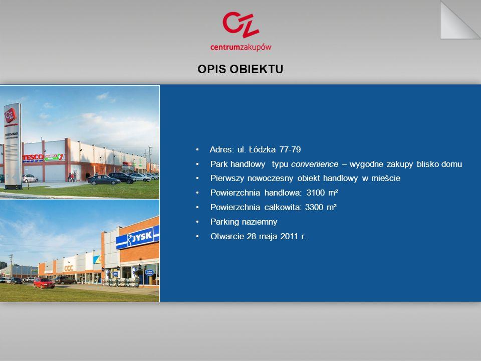 OPIS OBIEKTU Adres: ul. Łódzka 77-79