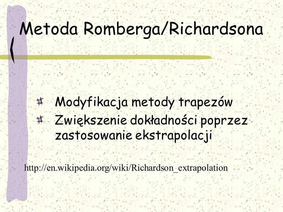 Metoda Romberga/Richardsona