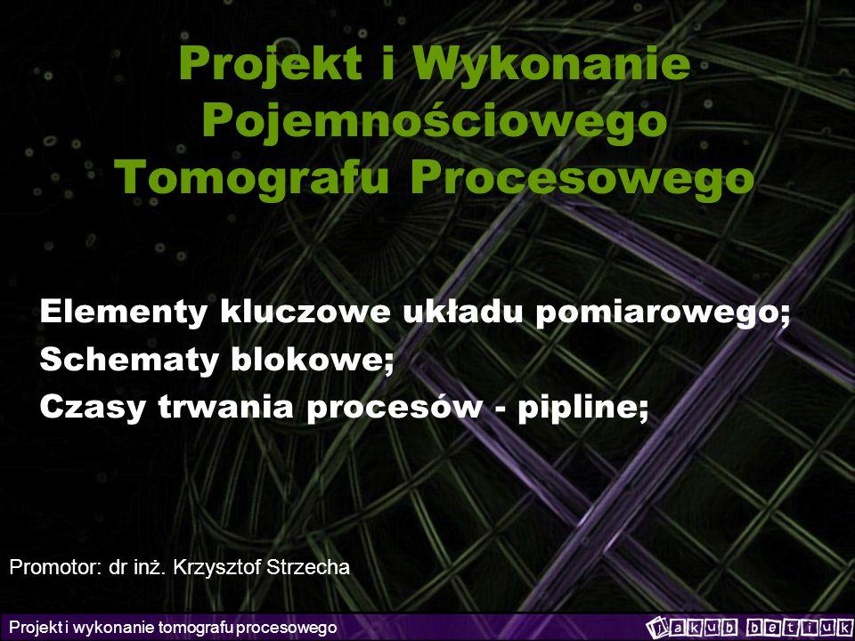 Projekt i Wykonanie Pojemnościowego Tomografu Procesowego