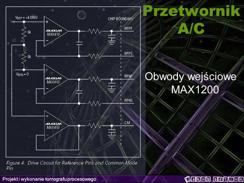 Przetwornik A/C Obwody wejściowe MAX1200
