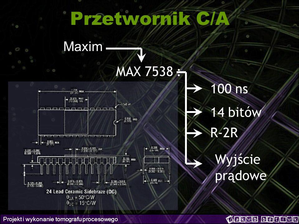 Przetwornik C/A Maxim MAX 7538 : 100 ns 14 bitów R-2R Wyjście prądowe