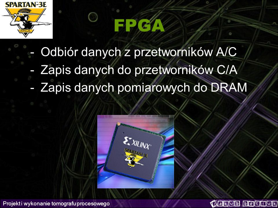 FPGA Odbiór danych z przetworników A/C