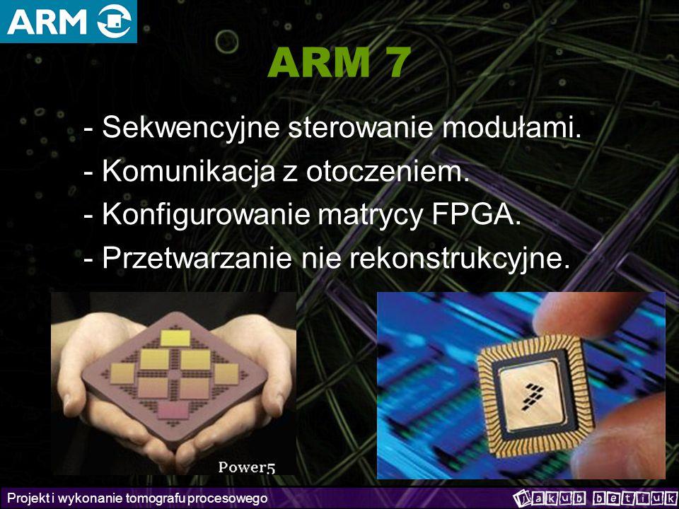 ARM 7 - Sekwencyjne sterowanie modułami. - Komunikacja z otoczeniem.