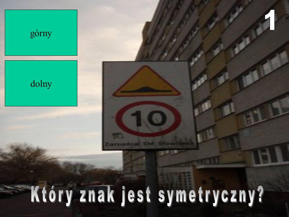 Który znak jest symetryczny