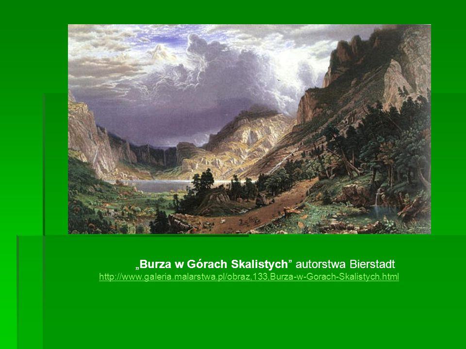 """""""Burza w Górach Skalistych autorstwa Bierstadt http://www. galeria"""
