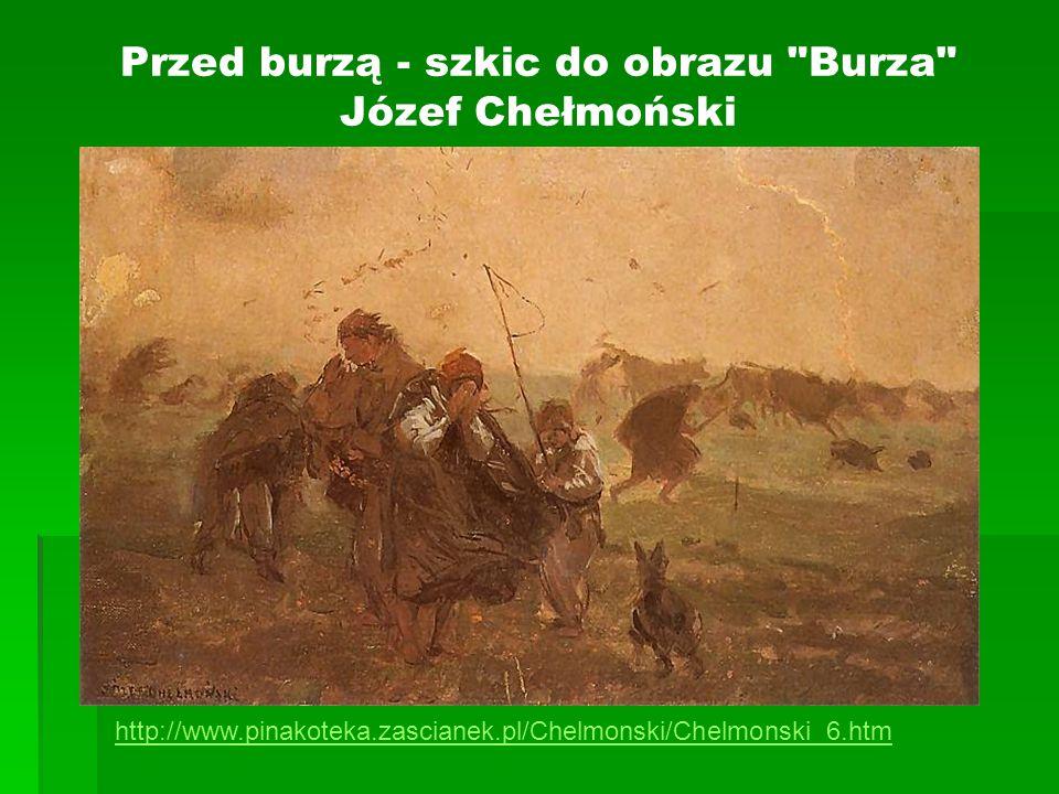 Przed burzą - szkic do obrazu Burza Józef Chełmoński