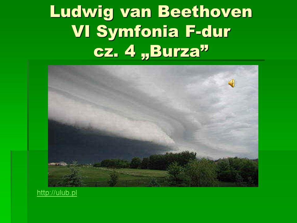 """Ludwig van Beethoven VI Symfonia F-dur cz. 4 """"Burza"""