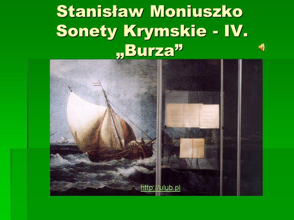 """Stanisław Moniuszko Sonety Krymskie - IV. """"Burza"""