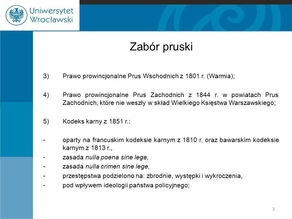 Zabór pruski Prawo prowincjonalne Prus Wschodnich z 1801 r. (Warmia);