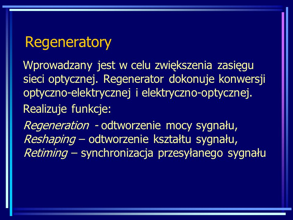 Regeneratory