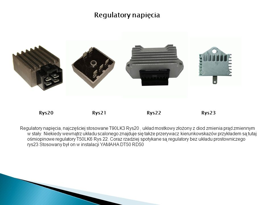 Regulatory napięcia Rys20 Rys21 Rys22 Rys23