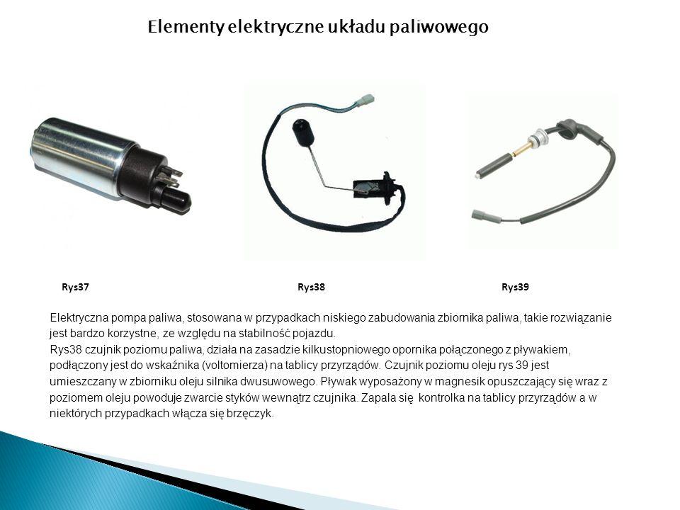 Elementy elektryczne układu paliwowego